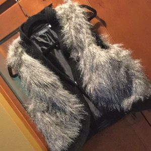 Ny collection faux fur bolero vest festival boho